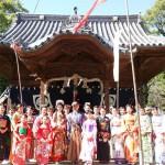 ②岡山神社で開催したお姫様道中の企画に使わせて頂きました。ありがとうございます。岡山神社は小城藩主初代藩主鍋島元茂と二代藩主鍋島直能が祀られております。